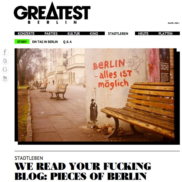 interview, berlin - Pieces of Berlin - Book and Blog