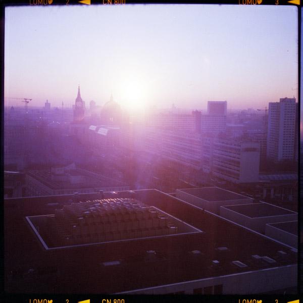 sunset, berlin, alexanderplatz - Pieces of Berlin - Book and Blog
